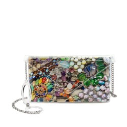 Amber Flowers Button