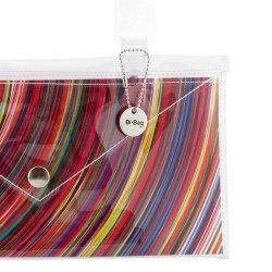 Blue Peacock Button