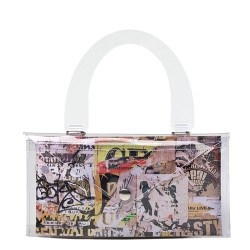 3 buttons metal necklace with crystals