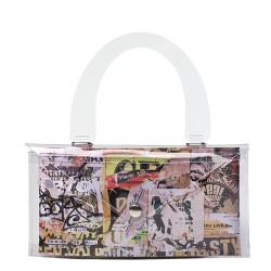 Collana di metallo con cristallo con 3 bottoni